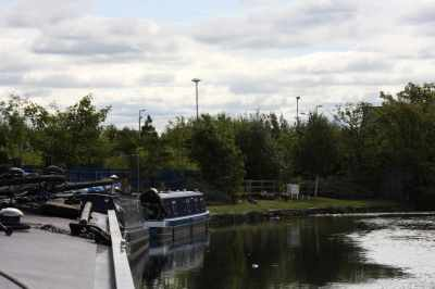 Useful moorings at Litherland - right next to the service pint and handy Tesco megastore...