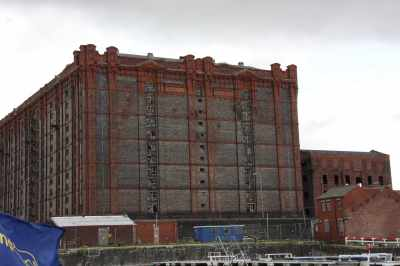 The Tobaccoe Warehouse dominates the old docks here...
