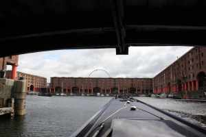 Albert Dock - completee with sunken ship to the right...