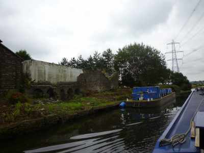 Dereliction in action - sad to see that row of arches in a state of collapse...
