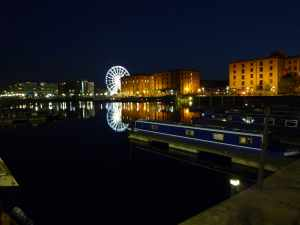 Albert Dock by night - what a lovely spot...