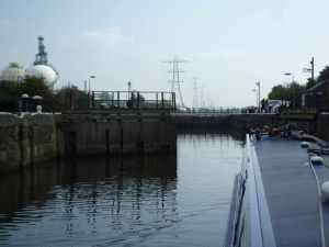 Weston Marsh lock - gateway to the River Weaver...