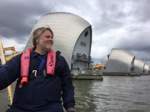 There's still a thrill to helming these waters - even if we have passed the Thames Barrier many times :-)