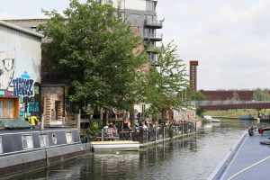 There is a whole new cafe culture growing aroudn the canal in Hackney..